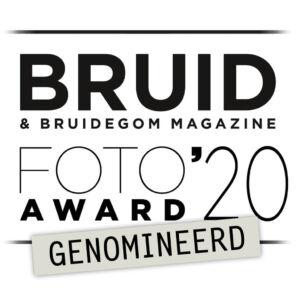 Genomineerd beste huwelijksfotograaf van het jaar 2020
